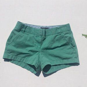 J Crew Green Chino Shorts